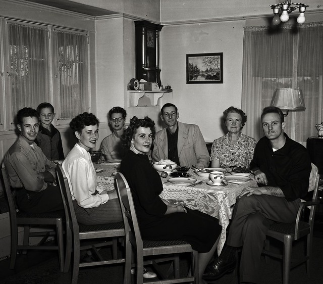 Dinner, Late 1940s at My Grandmothers