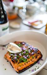 Summer Salmon (Look at the Birdie!) Tags: lunch lax archipelago skarprunmarn