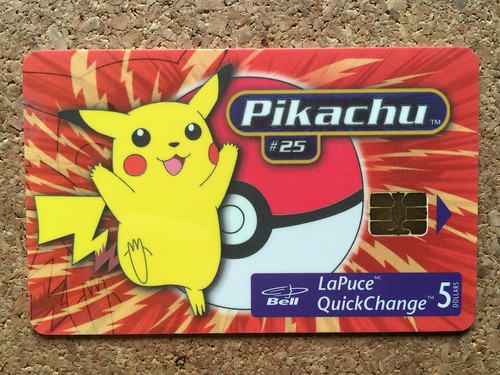 telephone call card payphone pass callcard phone card bell canada pokemon lapuce - Payphone Calling Cards