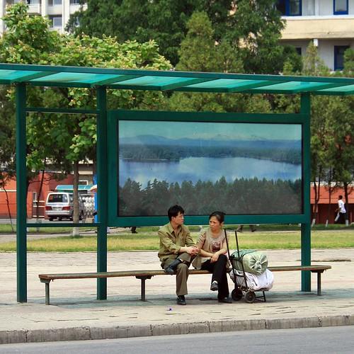 Waiting for a bus - #pyongyang #northkorea #dprk #korea #koreautara #photography #fotografi #travel #sharetravelpics   #traveling #travelling #traveler #storyful #story #travelfotografi #travelphotography #instagram #insidenorthkorea #thiskoreanlife #live