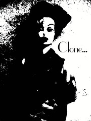 CLONE (Toypincher) Tags: white vintage toy doll barbie balck and clone effect collectable