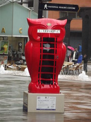 The Big Hoot - Central Square, Brindleyplace - You Can Call Me Owl (ell brown) Tags: greatbritain england sculpture costa rain statue birmingham unitedkingdom telephone owl raining centralsquare westmidlands k6 phonebox birminghamuk k1 redphonebox brindleyplace fingerpost sirgilesgilbertscott nationalsealifecentre owlstatue wildinart birminghamchildrenshospital stephenmckay thebighoot thebighootbirmingham2015 redk6telephonebox youcancallmeowl