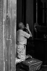 Secret prayer (bananacake1000) Tags: china travel bw temple nikon shanghai candid prayer streetphotography jade buddist