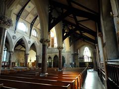 Inside St John's (failing_angel) Tags: joseph francis bath charles somerset stjohn justina stjohnschurch stjohntheevangelist hansom romancatholicchurch 120914 hansombaptisterysaint paduaedward