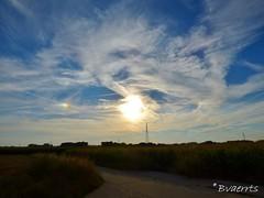 Parhelia - Sun dogs (Bvaerrts) Tags: sunset sun soleil zonsondergang sundown belgium belgique belgie belgi optical illusion be phantom zon sundog welle atmospheric flanders phenomenon sundogs vlaanderen denderleeuw bijzon iddergem pharhelia pharelium pharhelion