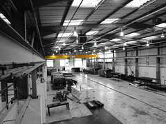 Overhead Crane in an industrial bay