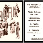 A 1905 ADVERTISING POSTCARD FOR BENTEN STREET in OLD YOKOHAMA, JAPAN thumbnail