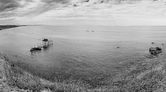 Panoramic seascape in Abruzzo region [Explore 2016.12.11] (Mario Ottaviani Photography) Tags: sony panoramico panoramic sonyalpha italy seascape italia paesaggio landscape travel adventure nature scenic exploration view vista breathtaking tranquil tranquility serene serenity calm trabocco puntaaderci biancoenero abruzzo blackwhite monocromatico blackandwhite monochrome