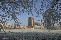 Oostkerke (xplorengo) Tags: damme oostkerke belgique be belgium belgië belgie snow sneeuw winter church kerk vlaanderen flanders flandre flandres