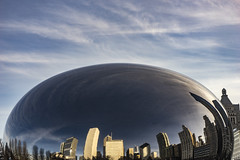 First of the New Year Bean - January 8, 2017 (Flipped Out) Tags: chicago millenniumpark cloudgate thebean