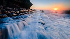 Flow (luis augusto santos) Tags: flow sunset sun ocenan water sea seascape ngc