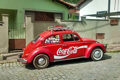 Old Coca-Cola vendor VW Beetle in Rio de Janeiro (roitberg) Tags: truck cocacola coca cola coke