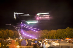 20170105_F0001: Fireworks against the laws of physics (wfxue) Tags: night fireworks explosion light bright trails lighttrails smoke people crowd longexposure