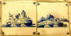 blues (4) (canecrabe) Tags: carrelage faïence bleu janmatejko peintre maison cracovie céramique