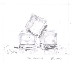 Ice cubes (Richard Kennard) Tags: icecubes pencildrawing freezing cold ice