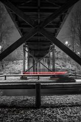 2017_01_14(21) (bas.handels) Tags: heerlen street night longexposure longexpo le snow sneeuw winter urban architecture bridge brug fuji fujixt1 xt1