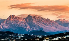 Sur la route de Tanger - Morocco (Bouhsina Photography) Tags: coucher soleil limière rif tétouan tetuan maroc morocco tanger bouhsina bouhsinaphotography canon 7dii ef70200 ciel nuage couleur rouge orange 2017