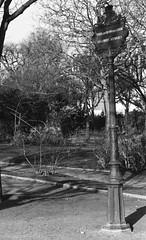 Tenir les chiens en laisse (•Nicolas•) Tags: paris france visit visite tourisme tourism nicolasthomas pole poteau sign panneau champdemars parc park nb bw