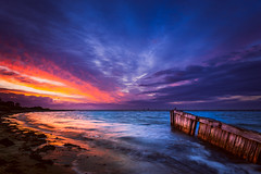 Catch (Marty Friedel) Tags: wood victoria wow landscape portphilipbay water werribee windy sticks longexposure werribeesouth colour morning ocean nisi sky pop sunrise filters australia clouds
