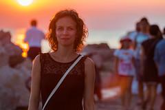 IMG_3090 (m@rEsz) Tags: piran slovenia eu europe istria sunset sea coast orange zselyke pregnant