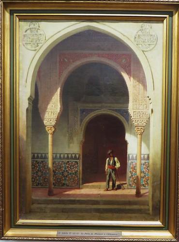 """""""Patio de Merxuar à l'Alhambra"""", Achille Zo (1826-1901), Musée des beaux-Arts, Pau, Béarn, Pyrénées Atlantiques, Aquitaine, France."""
