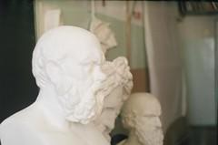 bustes (ikaricat) Tags: art film statue analog 35mm zenit artschool buste socrate zenite bustes