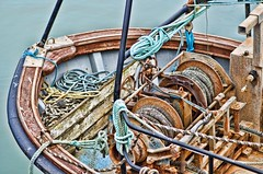 Fishing boat processing experiments No. 3 (Mooganic) Tags: uk sea test boat fishing rust harbour experiment 85mm rope machinery labs corrosion topaz porthcawl adjust harb