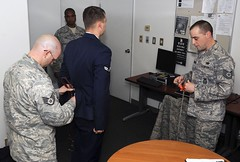 Court martialled airman about to be handcuffed and shackled. Still in dress uniform and standing ramrod straight at attention. In short, hot. (slrn579537065) Tags: chains shackles handcuffs prisoner airman courtmartial maleprisoner handcuffedman militaryprisoner handcuffedinuniform waistrestraint