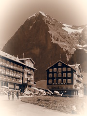 Today is Yesterday (1elf12) Tags: mountain berg sepia schweiz switzerland eiger berneroberland scheidegg nordwand suiss
