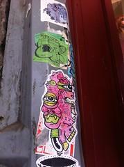 Burga Sticker (ViSiON (NZ)) Tags: streetart graffiti stickerart vision tic graffitiart talkischeap wellingtonstreetart stickergraffiti burga wellingtongraffiti stickerbomb