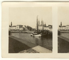 Battlefields No.1- Ostend from the Quay (Rescued by Rover) Tags: world one 1 war harbour great quay battlefield ostend stereoscope