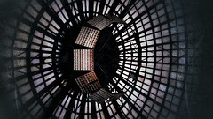 The Eye of Vitan (Dr. Blowfinger) Tags: roof eye mall shopping cops ceiling romania illegal epic bucharest futurist vitan bucureti