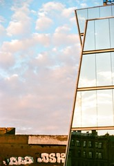 Reflection (dimaikonnikov) Tags: houses urban reflection architecture pentax takumar russia petersburg structure fujifilm saintpetersburg spb 2015      fujifilmsuperia400  pentaxspotmatik