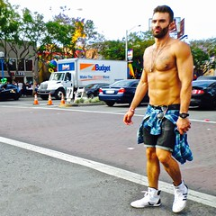 SAM_2453 (danimaniacs) Tags: gay shirtless man hot sexy guy beard la losangeles muscle muscular hunk pride jewelry westhollywood stud scruff