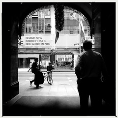 Loitering (Albion Harrison-Naish) Tags: sydney streetphotography australia newsouthwales unedited iphone georgest sydneycity thestrandarcade mobilephotography iphoneography sydneystreetphotography hipstamatic aobwfilm iphone5s akiralens albionharrisonnaish