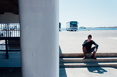 Paros june 2015. (Dimitrios Giortzis) Tags: blue sea summer stairs port island greek boat ship greece greekislands paros cyclades greecetoday
