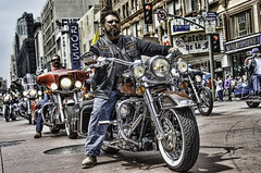 Riders Bike.. @LA Downtown (Surendra Sajwan) Tags: bike losangeles downtown parade rider ecuadorian nikond7000 nikon28300mm