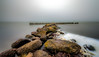 Rocks and Poles (Explored 26-12-2016) (mcalma68) Tags: enkhuizen ijsselmeer rocks longexposure icebreaker
