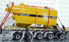 MERCEDES-BENZ AROCS BIG SPACE + FLATBED TRAILER (6 AXLE) - GROHMANN + WATER TANK 777D-016 (Diecasts Collectors Brasil) Tags: mercedesbenz arocs big space slt 8x4 wsi premium line 041175 flatbed trailer 6 axle grohmann power – 9795 water tank 777d