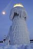 DSC03808P1w - Explore 1/9/2017 (Scott Glenn) Tags: lakemichigan puremichigan winterwonderland bluehour ice icy frozen sony alpha slta65v northpier outerlight stjosephmi tiscorniapark innerlight beacon moon nighttimephotography