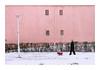 03 (Florin Aioanei) Tags: people dog pink street winter snow romania florin aioanei
