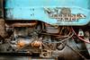 Fordson Major (aljones27) Tags: cromer coast eastanglia norfolk coastal coastline sea seaside shore blue tractor rusting wire wires rust