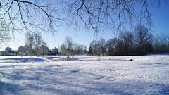 The golf court (Steenjep) Tags: vinter winter jylland danmark denmark sne snow herning sol sun sky himmel blå hvid skygge shadow reflex