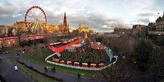 2016.08581b Christmas Fair in Princes Street Gardens, Edinburgh 2016 (jddorren08) Tags: scotland edinburgh christmas christmas2016 christmaslights christmasmarket sonynex5 samyang8mm daviddorren jddorren