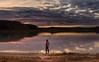 Tardes de rojo y grana (LANTADA Fotografia) Tags: agua aguilardecampoo pantano reflejos panoramica nuve autoretrato puestadesol