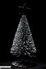 DSC_1275 (serra.damiano) Tags: dark darkness christmas tree star lights painting silver holiday closeup portrait bokeh flashlight indoor background studio item black