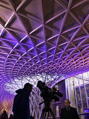 Live On Location (Douguerreotype) Tags: candid london people uk ceiling purple british roof street architecture city britain silhouette gb urban england
