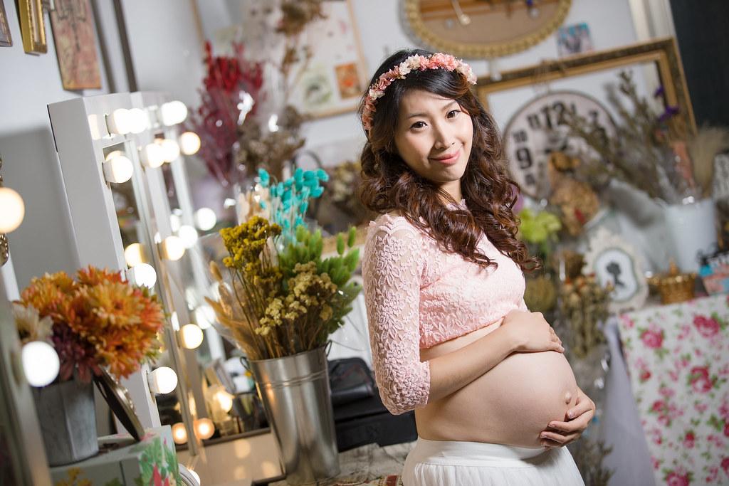 孕婦寫真,孕婦攝影,孕婦棚拍,婚攝卡樂,161217筱琪11