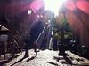 l'école est finie (grapfapan) Tags: paris montmartre escaliers contrejour enfants soleil steps children sun lensflare backlight
