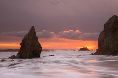 ebb (Andy Kennelly) Tags: malibu california long exposure pch rocks rugged sea stack seascape wet clouds sunset ebb